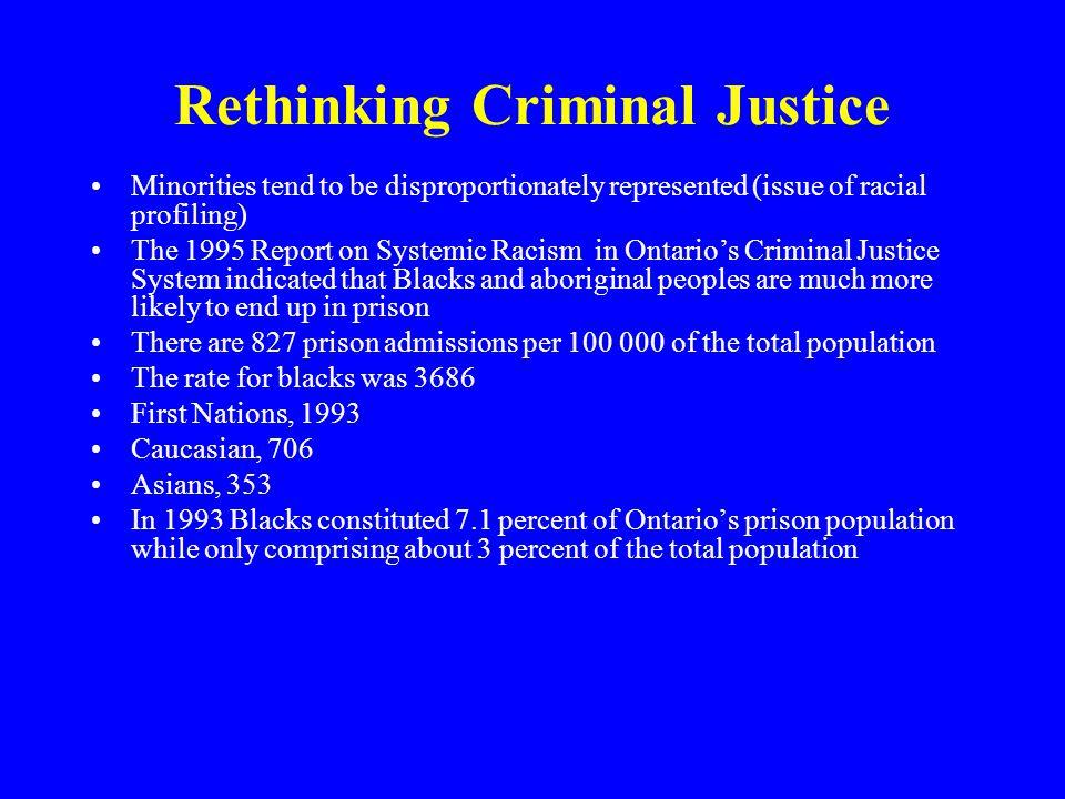 Rethinking Criminal Justice
