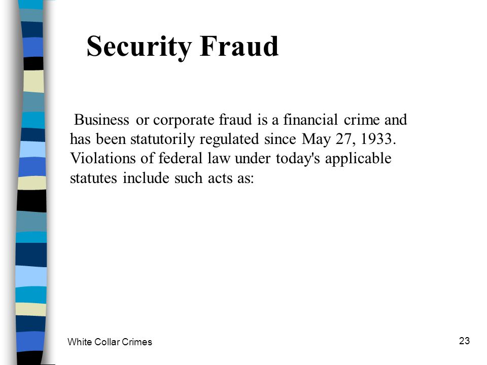 Security Fraud