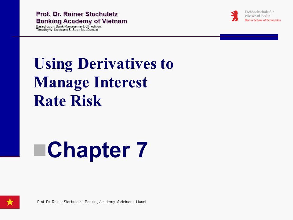 Chapter 7 Using Derivatives to Manage Interest Rate Risk