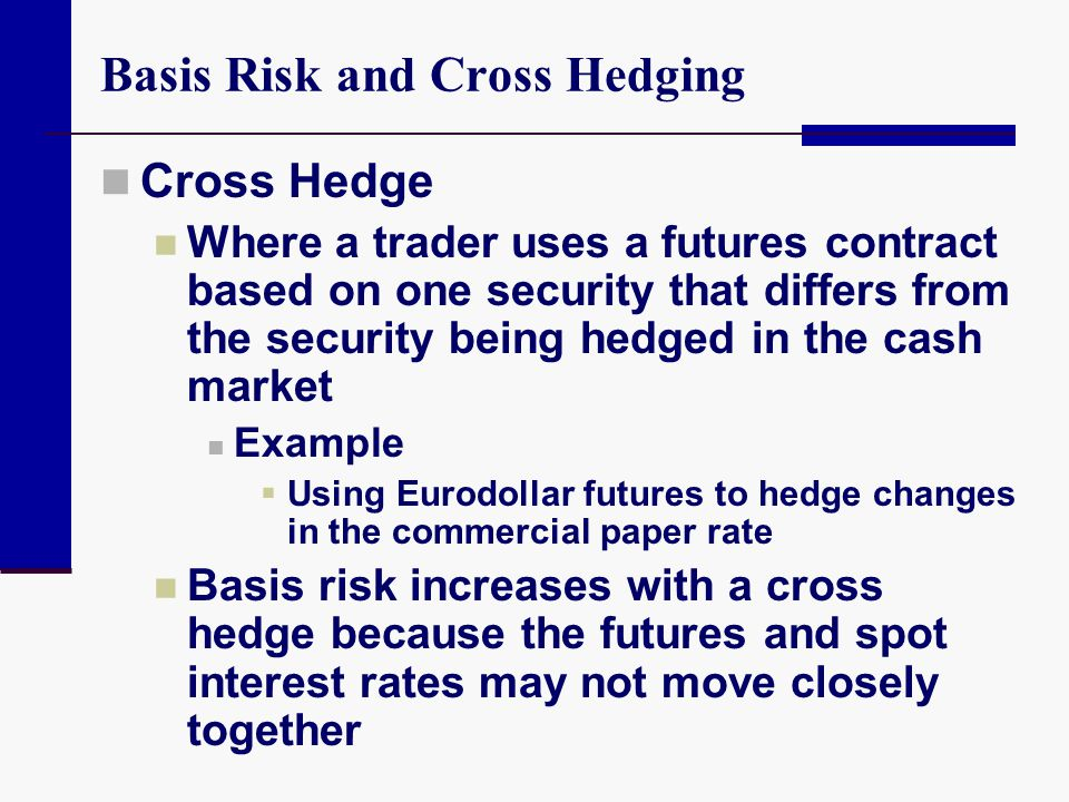Basis Risk and Cross Hedging
