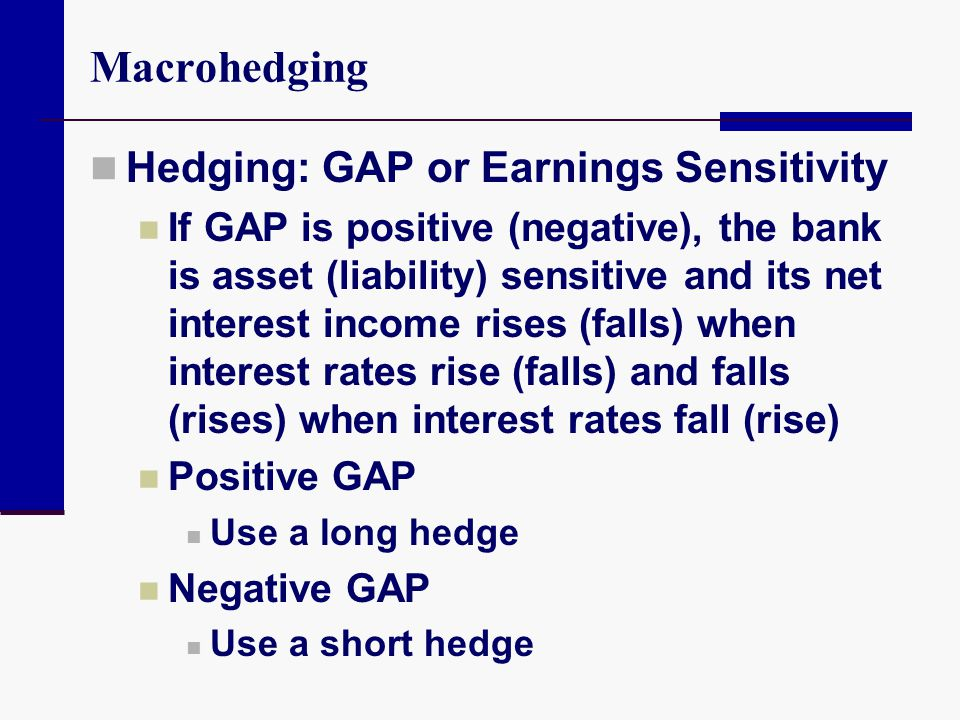 Macrohedging Hedging: GAP or Earnings Sensitivity