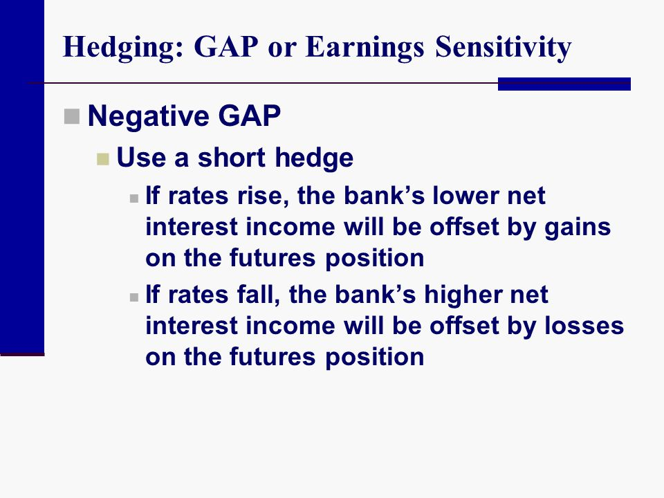Hedging: GAP or Earnings Sensitivity