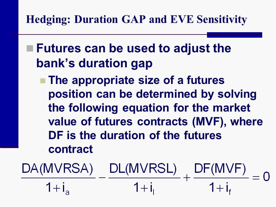 Hedging: Duration GAP and EVE Sensitivity