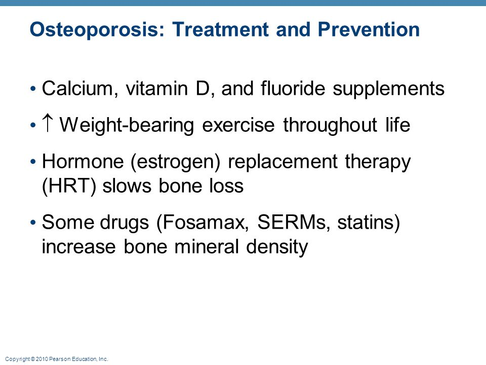 Osteoporosis: Treatment and Prevention