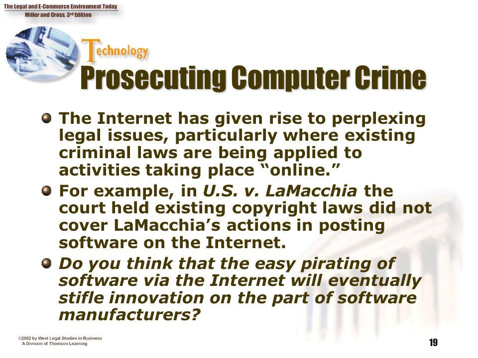 Prosecuting Computer Crime