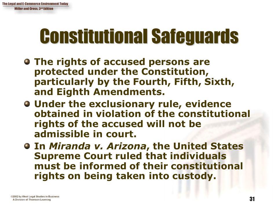 Constitutional Safeguards
