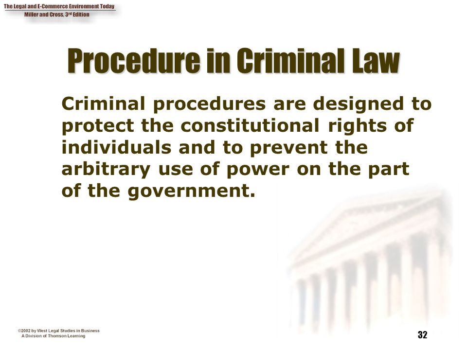Procedure in Criminal Law