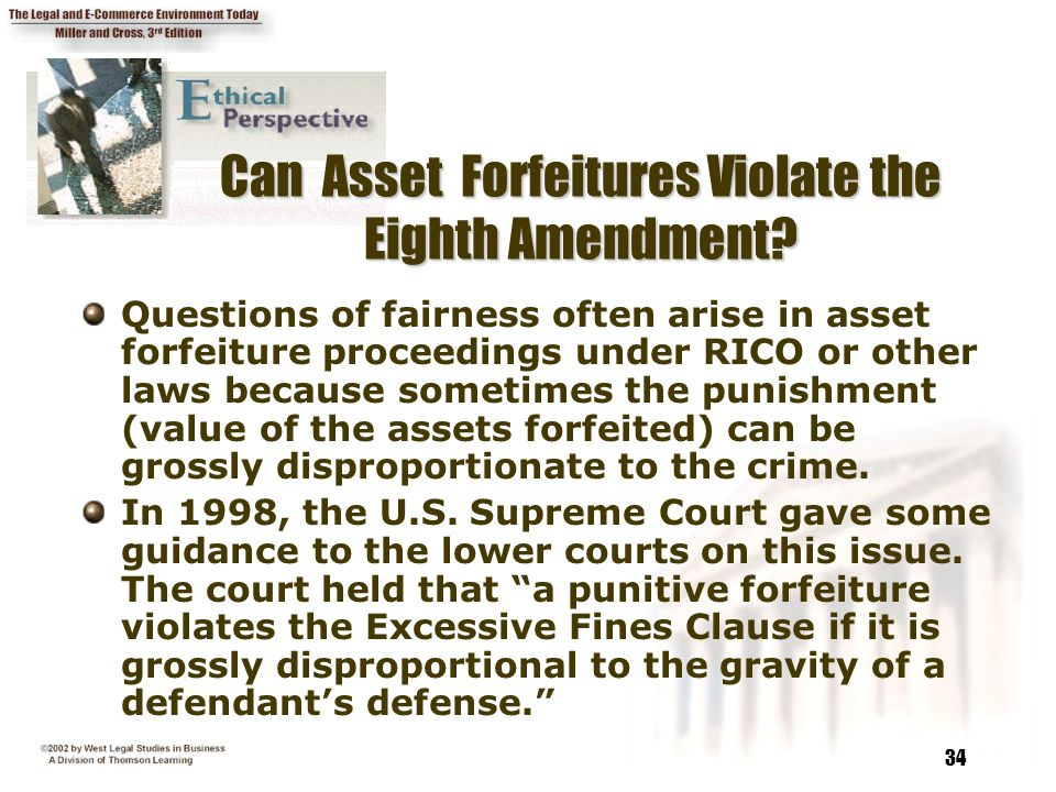 Can Asset Forfeitures Violate the Eighth Amendment
