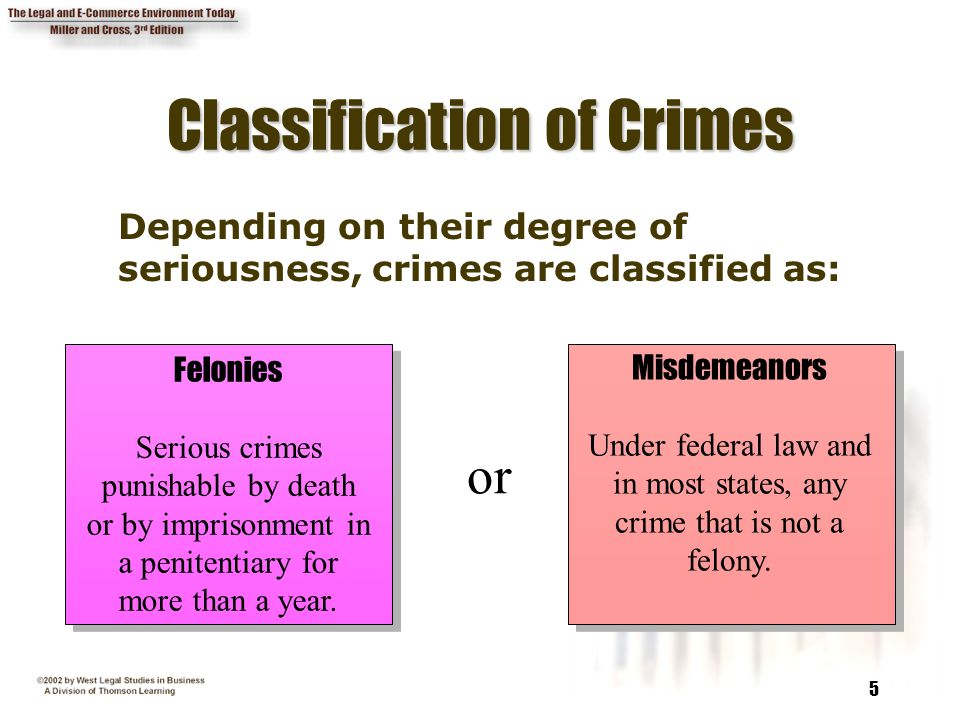 Classification of Crimes
