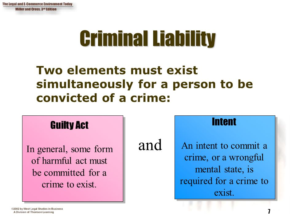 Criminal Liability and