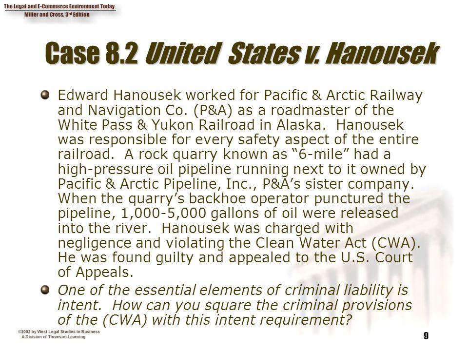 Case 8.2 United States v. Hanousek