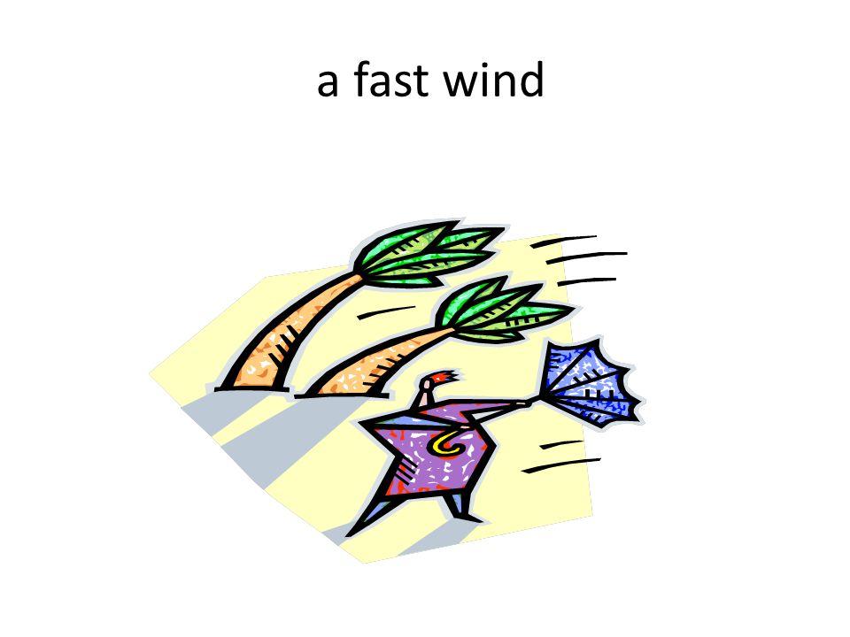 a fast wind