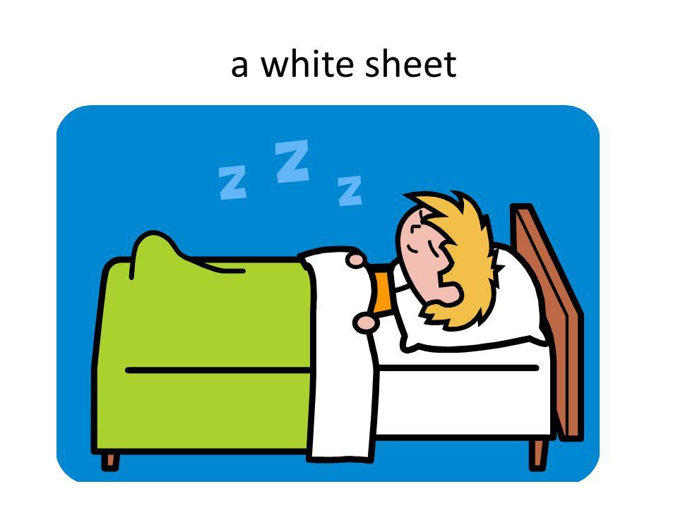a white sheet