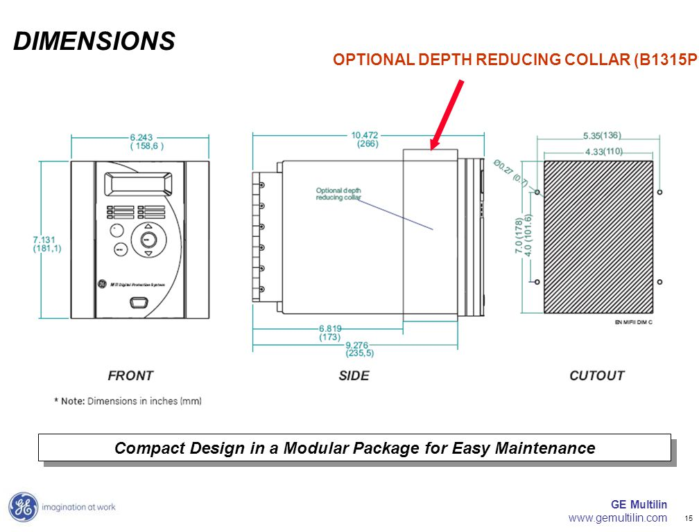 Compact Design in a Modular Package for Easy Maintenance