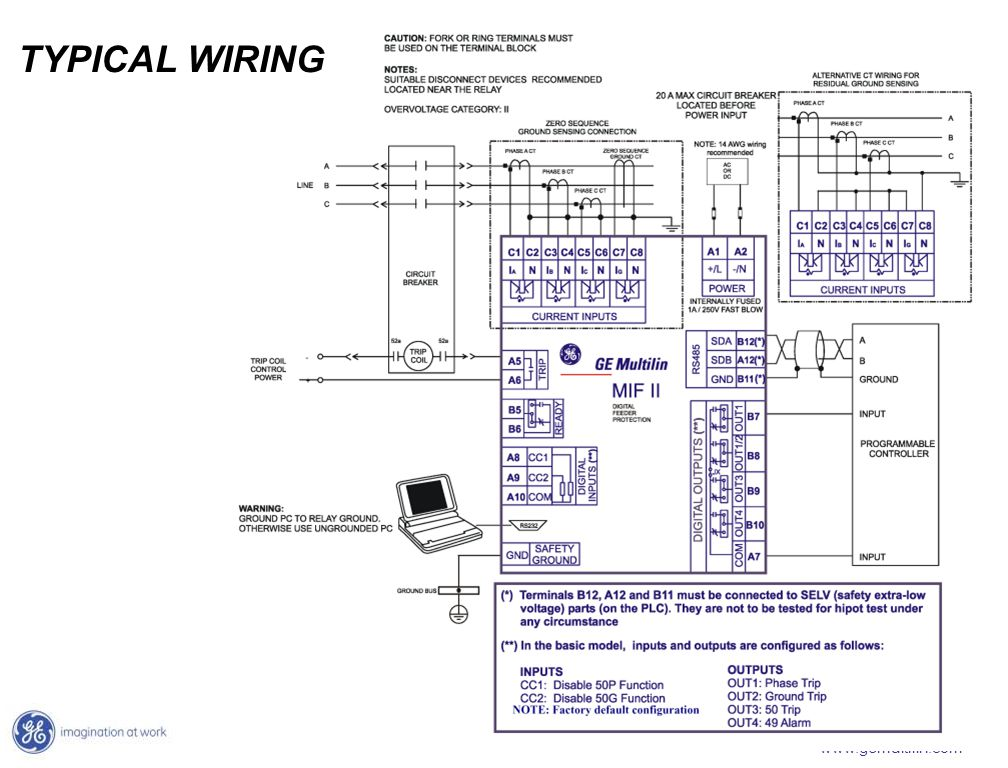 TYPICAL+WIRING mifii digital feeder protection a cost effective protection multilin 369 wiring diagram at bakdesigns.co