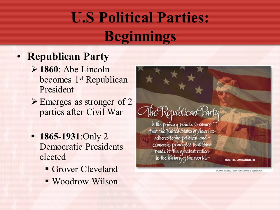 U.S Political Parties: Beginnings