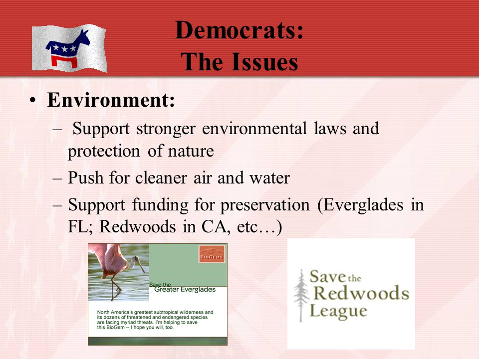 Democrats: The Issues Environment: