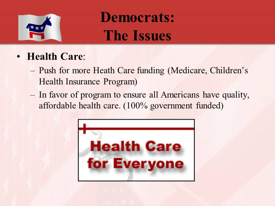 Democrats: The Issues Health Care: