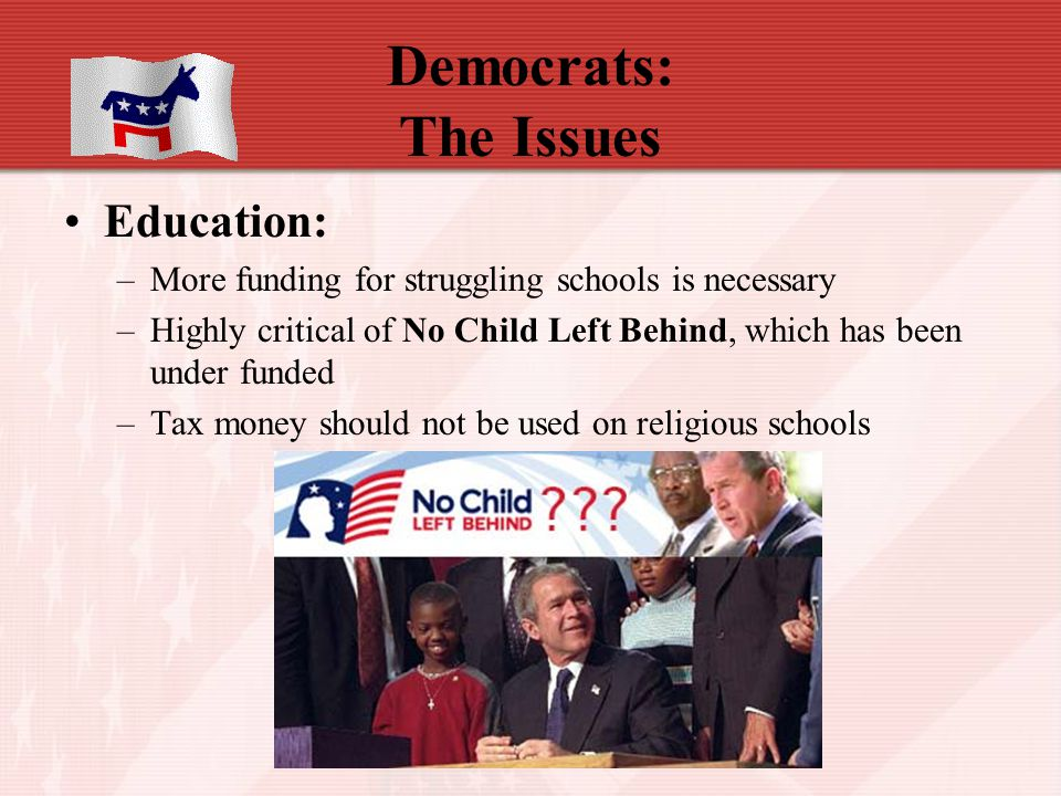 Democrats: The Issues Education: