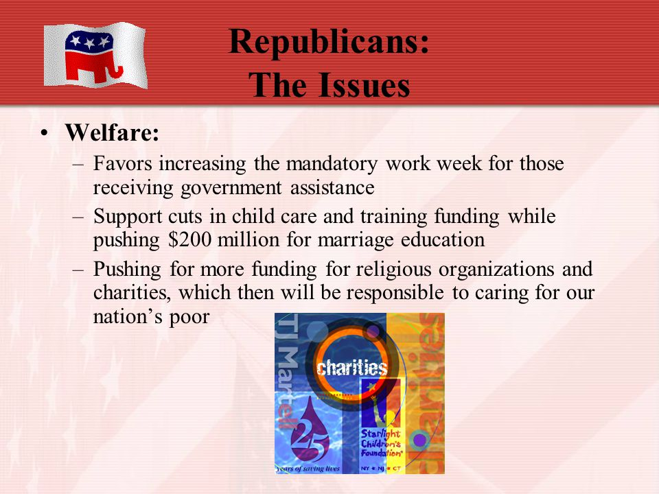 Republicans: The Issues