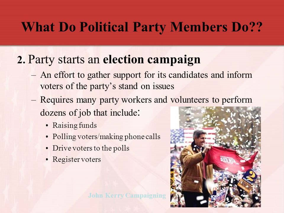 What Do Political Party Members Do