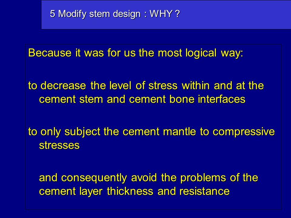 5 Modify stem design : WHY