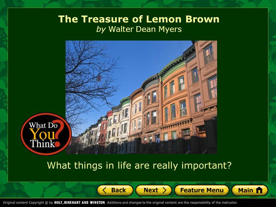 The Treasure of Lemon Brown by Walter Dean Myers
