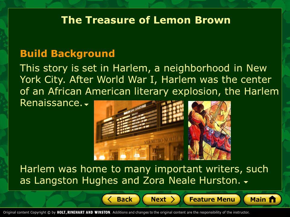 the treasure of lemon brown by walter dean myers essay By walter dean myers pages 168 - 181 name: _____ period: _____ english 8 mrs feniello the treasure of lemon brown, by walter dean myers.