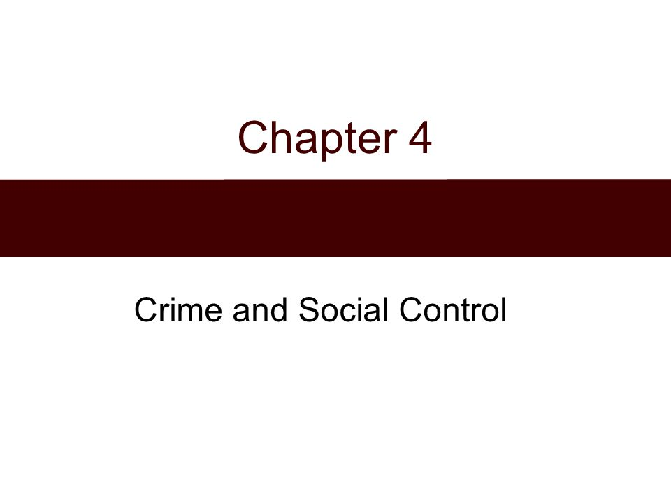 Crime and Social Control