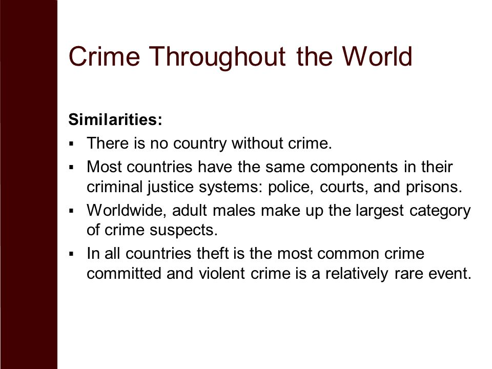 Crime Throughout the World