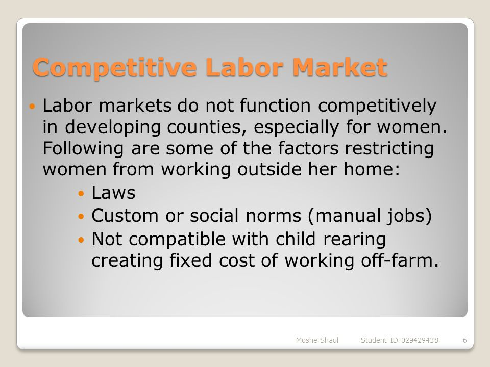 Competitive Labor Market