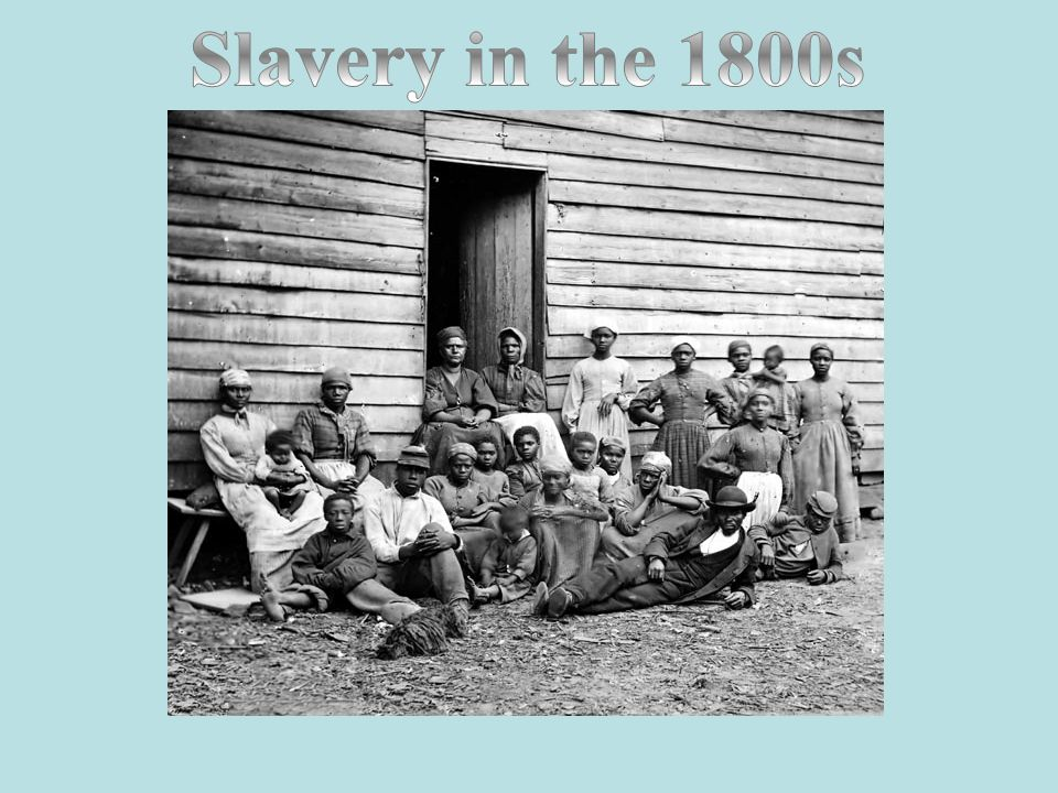 Your text here Slavery in the 1800s