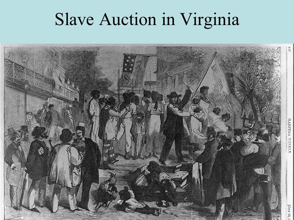 Slave Auction in Virginia