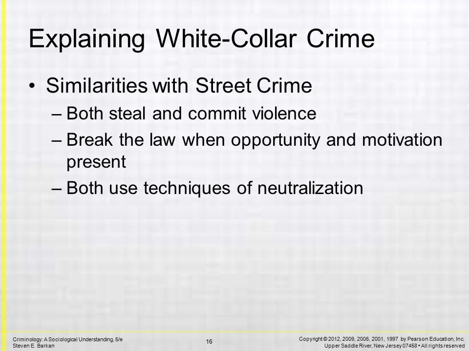 Explaining White-Collar Crime