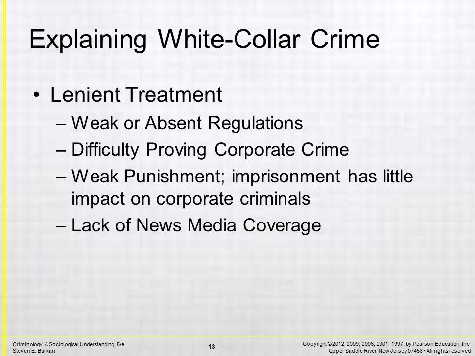 Reducing White-Collar Crime