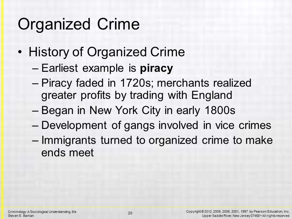 History of Organized Crime