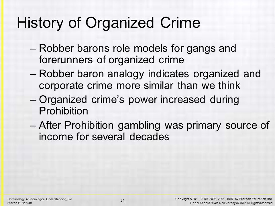 models of organized crime There are two different types of organizations within organized crime and these organizations are called the bureaucratic and patron-client organizations.