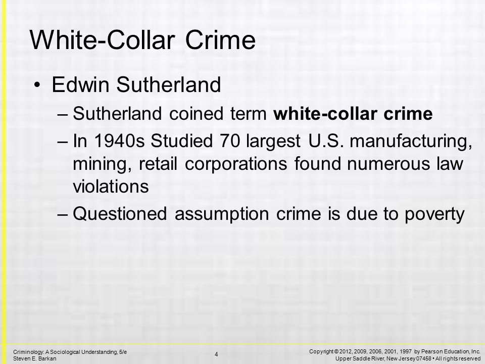 White-Collar Crime Definition: A crime committed by a person of respectability and high social status in the course of his occupation
