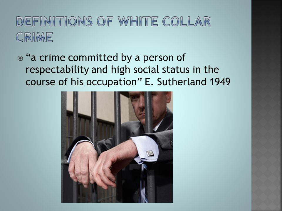 Definitions of white collar crime