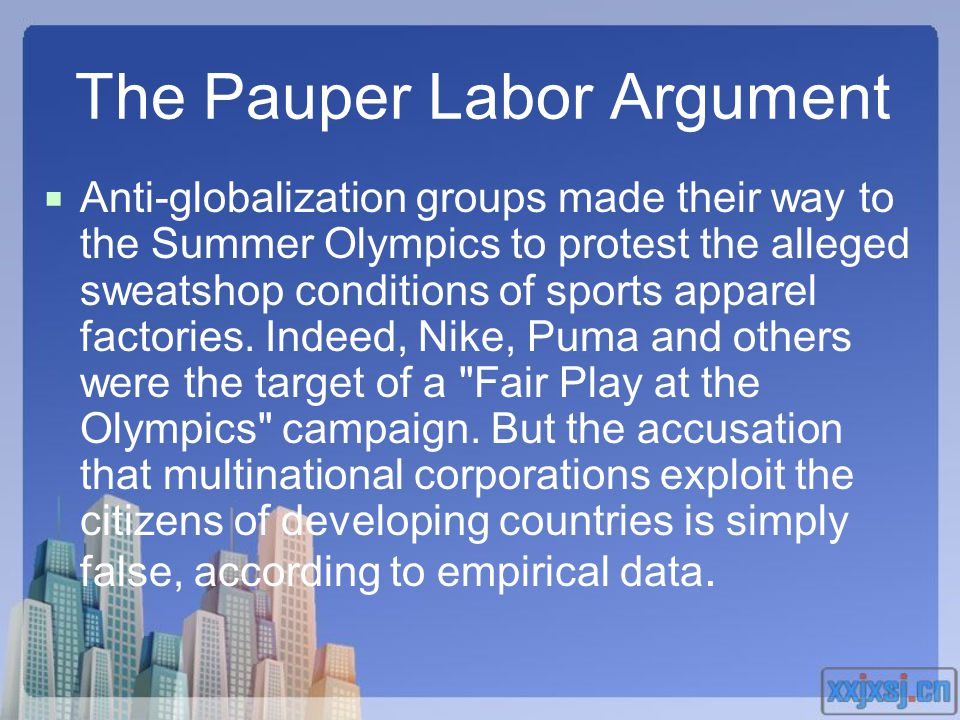 The Pauper Labor Argument
