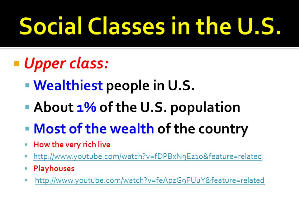 Social Classes in the U.S.