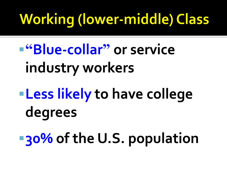 Working (lower-middle) Class