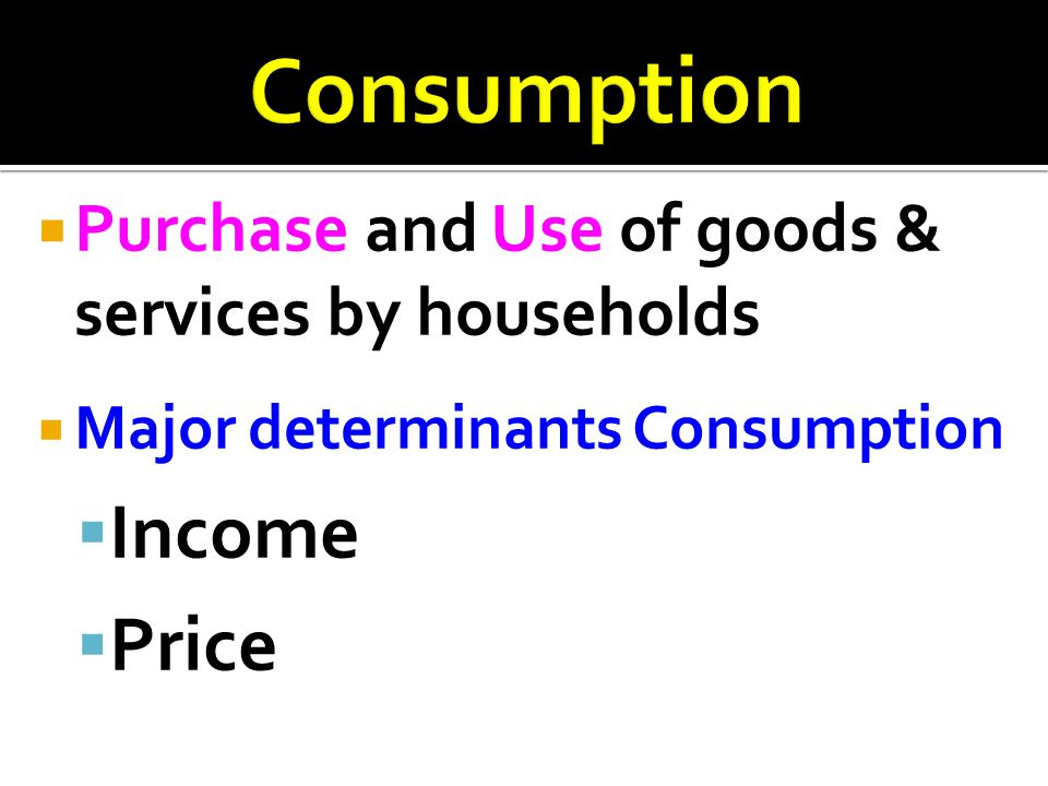 Consumption Income Price