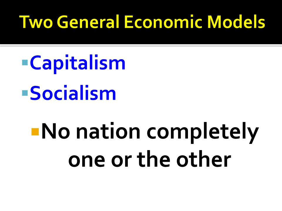 Two General Economic Models
