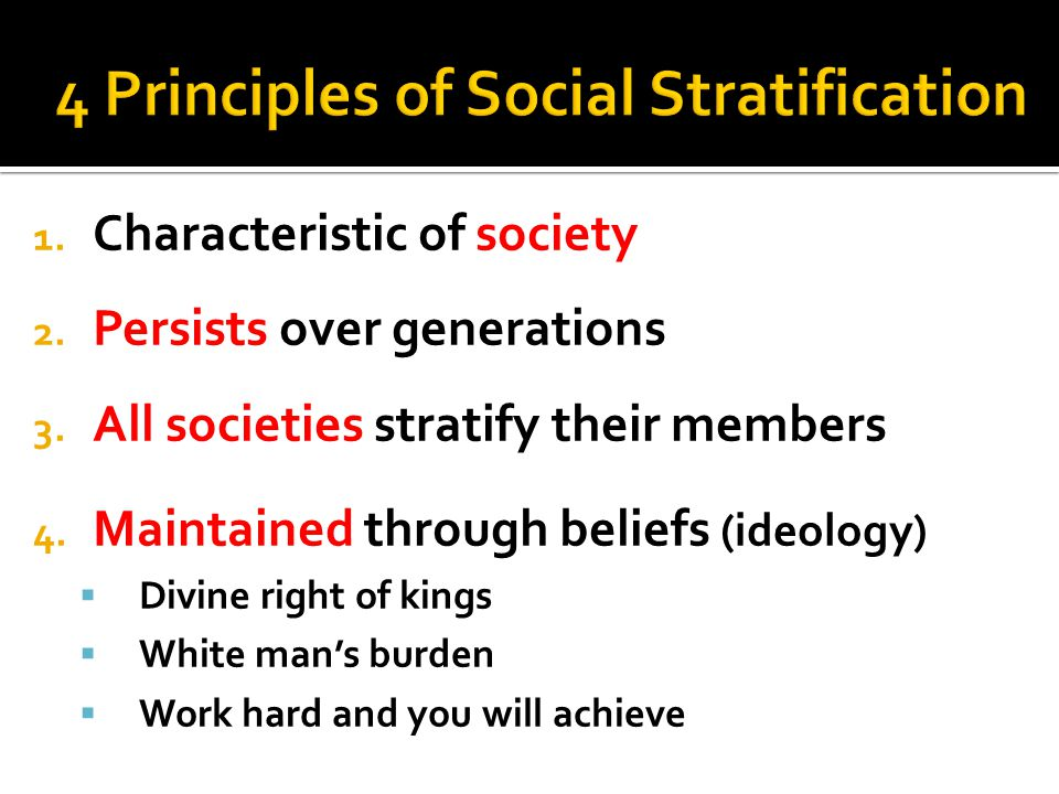 4 Principles of Social Stratification