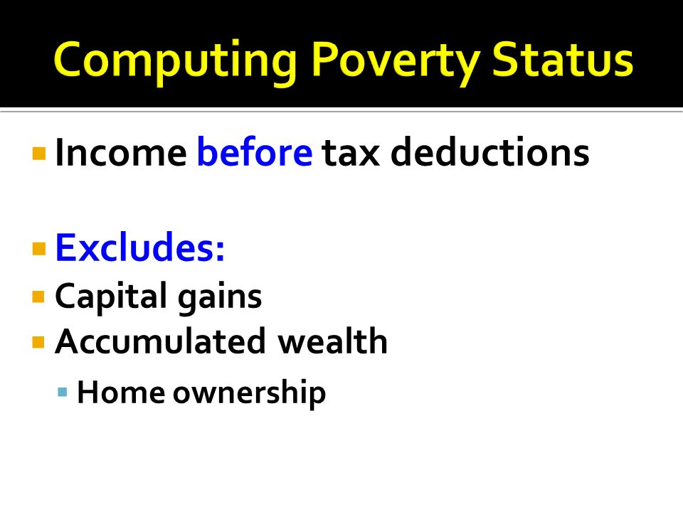 Computing Poverty Status
