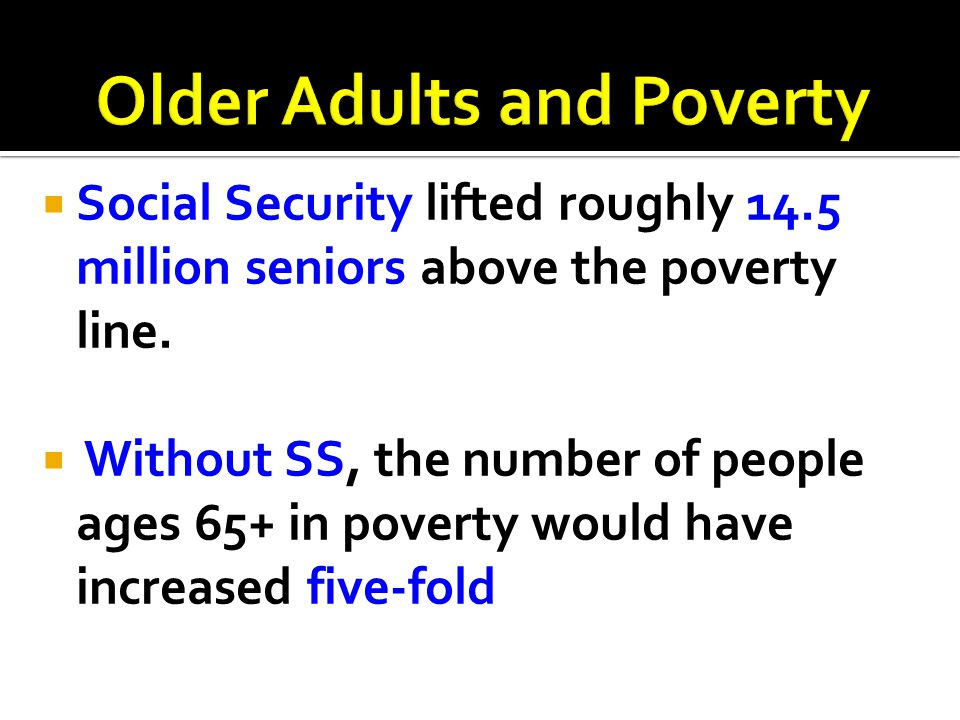 Older Adults and Poverty