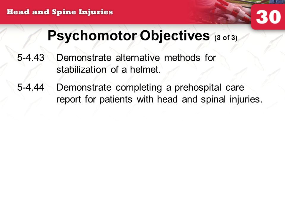Psychomotor Objectives (3 of 3)