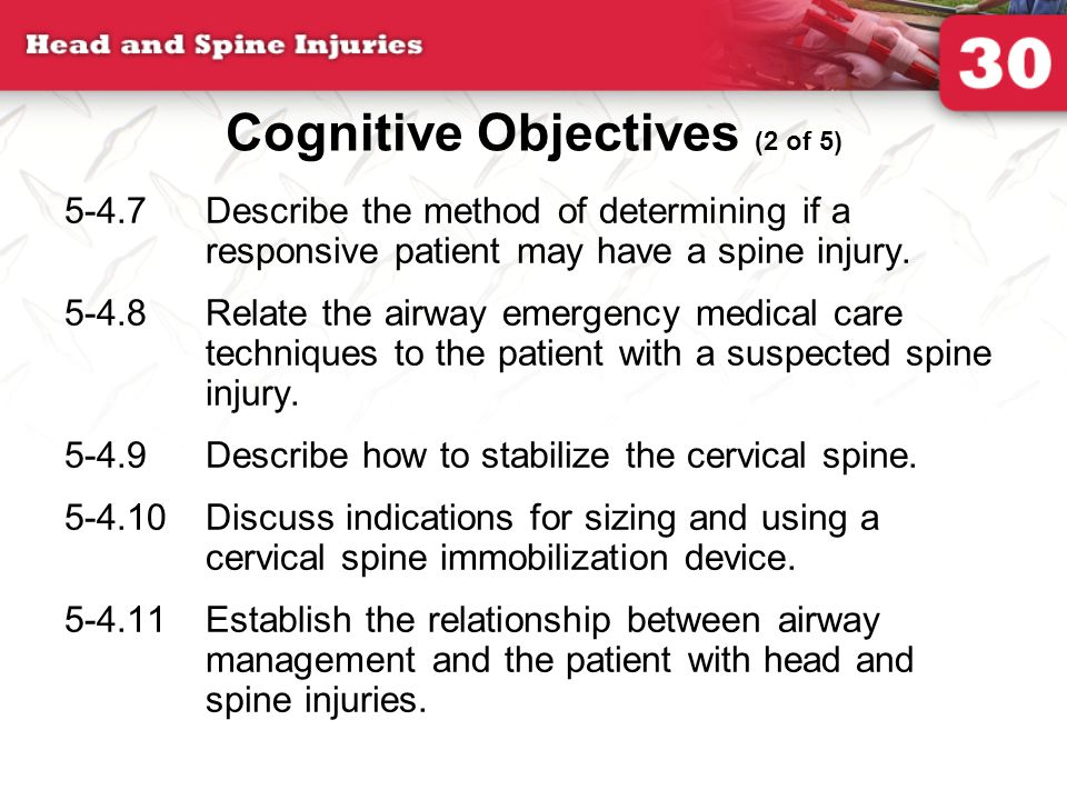 Cognitive Objectives (2 of 5)
