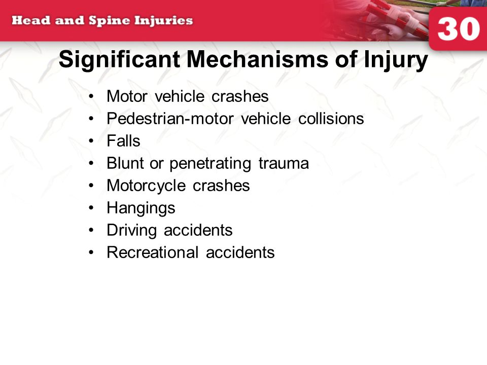 Significant Mechanisms of Injury